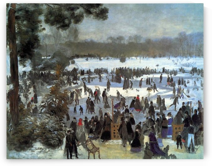 Skating runners in the Bois de Bologne by Renoir by Renoir