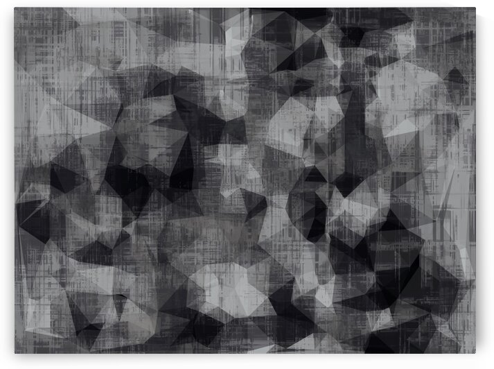 geometric triangle abstract background in black and white by TimmyLA
