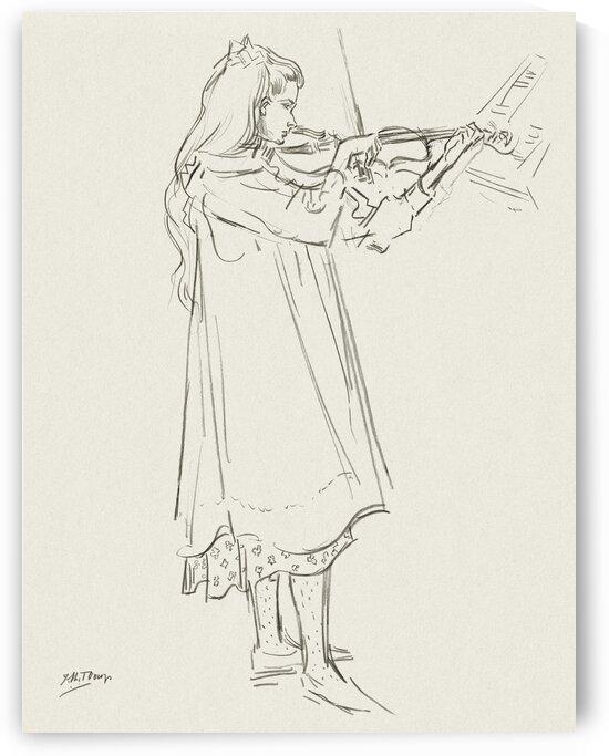Girl playing the violin by Tony Tudor