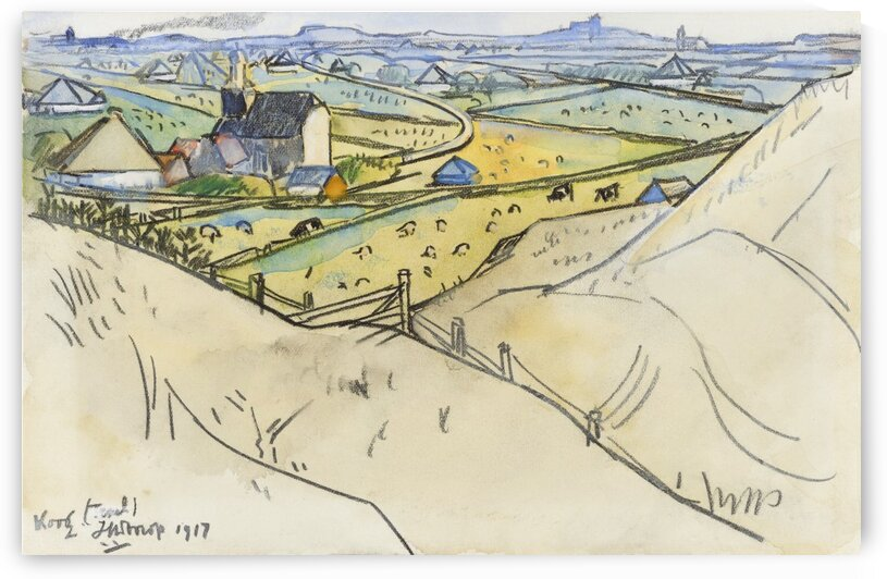 View from the dunes on Koog in Texel by Tony Tudor