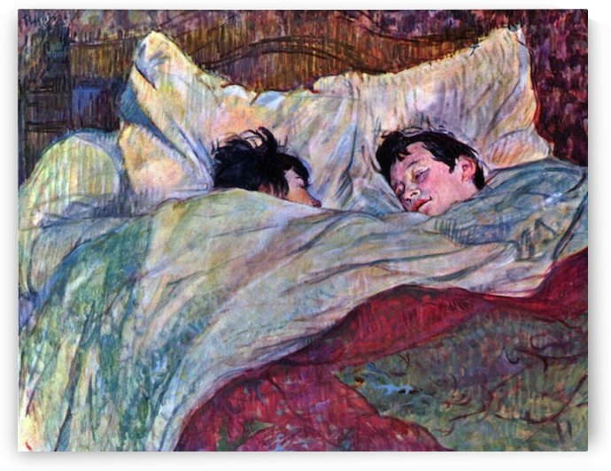 Sleeping by Toulouse-Lautrec by Toulouse-Lautrec