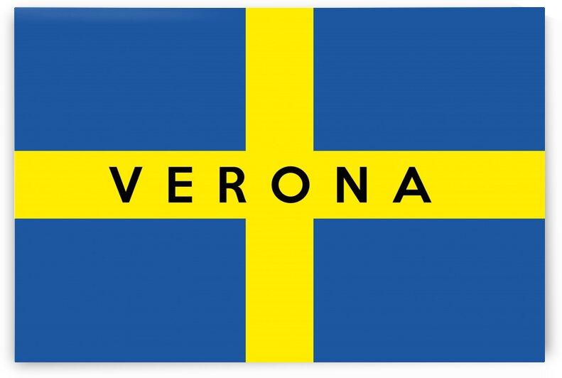 Verona text flag name by Tony Tudor