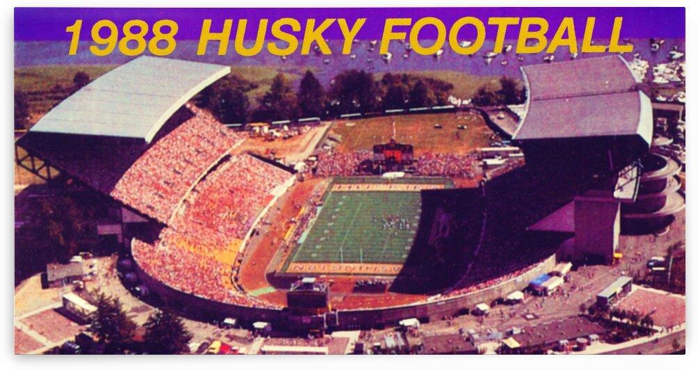1988 Washington Husky Stadium Art by Row One Brand
