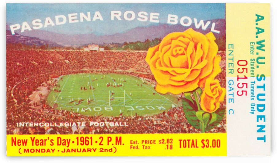 1961 Rose Bowl Washington Win by Row One Brand