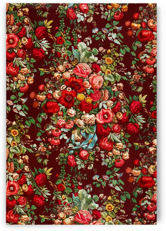 Chintz pattern from the Industrial arts of the Nineteenth Century by Sir Matthew Digby wyatt by Tony Tudor