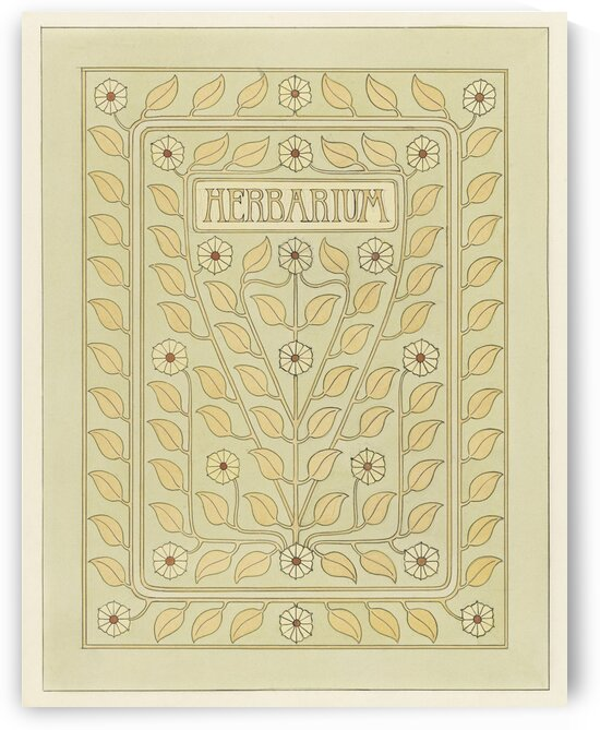 Design for Herbarium book cover by Julie de Graag by Tony Tudor