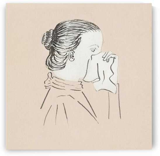 Head of a woman with a handkerchief against her nose  1894  by Julie de Graag by Tony Tudor