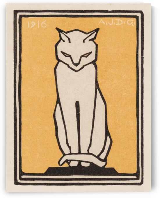 Sitting cat  1916  by Julie de Graag by Tony Tudor