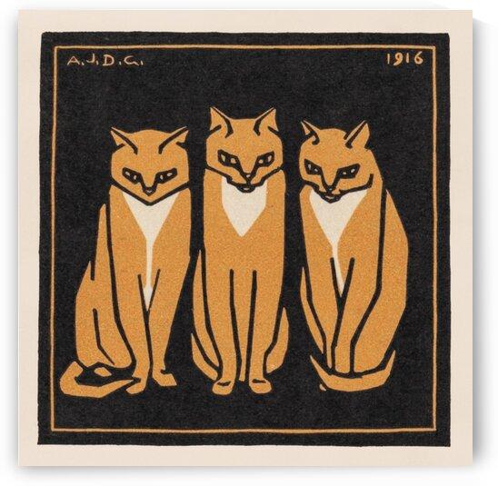 Three cats  1916  by Julie de Graag by Tony Tudor