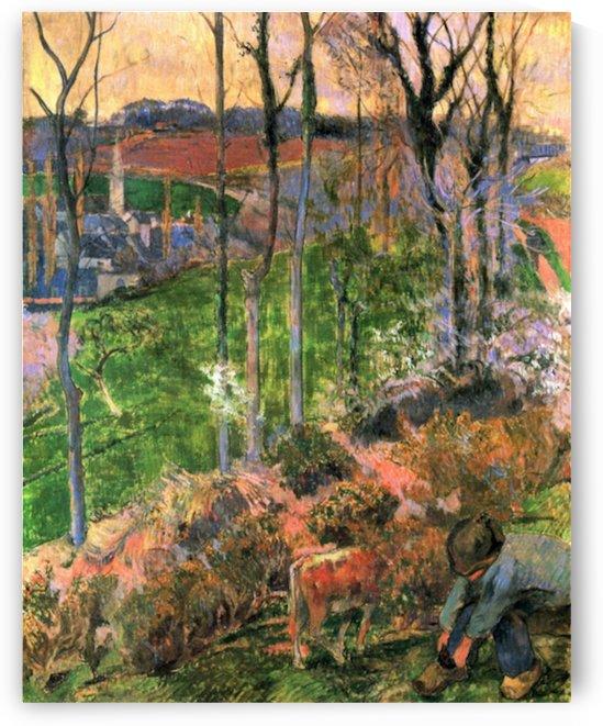 Small Breton Wooden Shoe by Gauguin by Gauguin