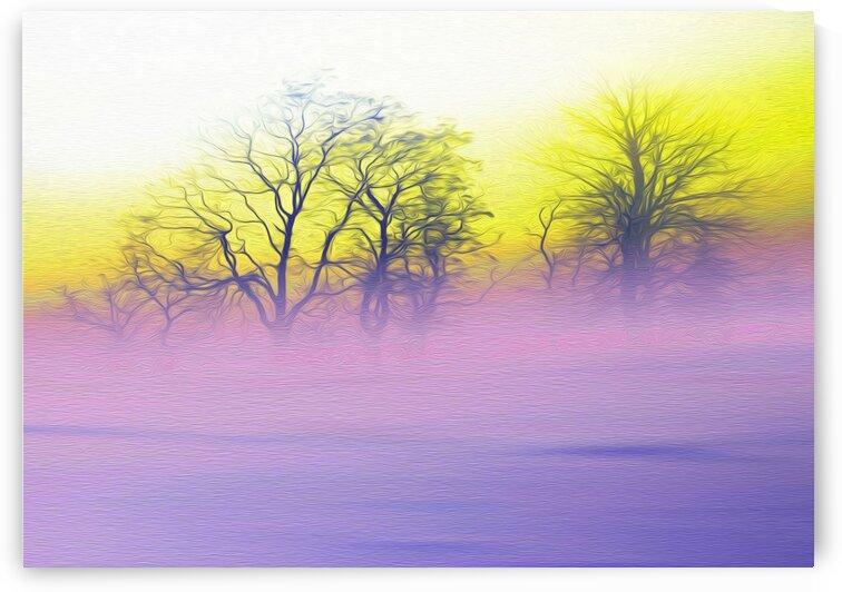 Pink fog.  Imitation of oil painting. by Ievgeniia Bidiuk