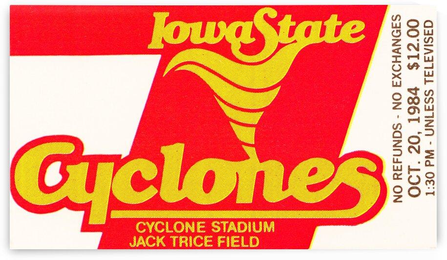 1984 Iowa State Ticket Stub Art by Row One Brand