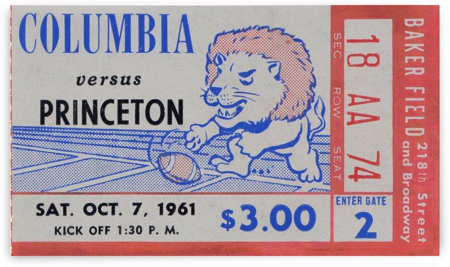 1961 Columbia vs. Princeton Ticket Stub Art by Row One Brand