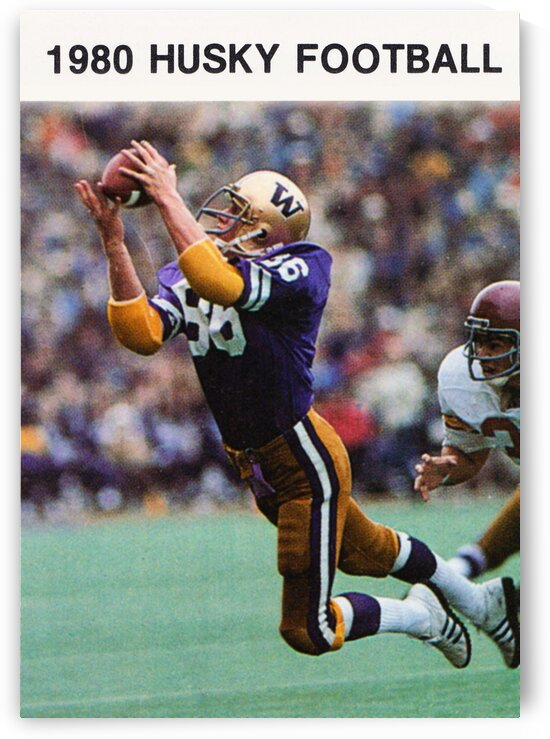 1980 Washington Huskies Football Poster by Row One Brand