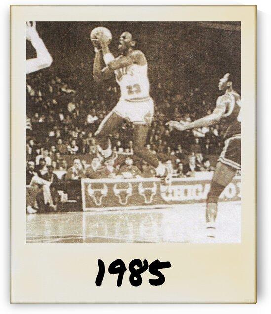 1985 Michael Jordan Polaroid Style Art by Row One Brand