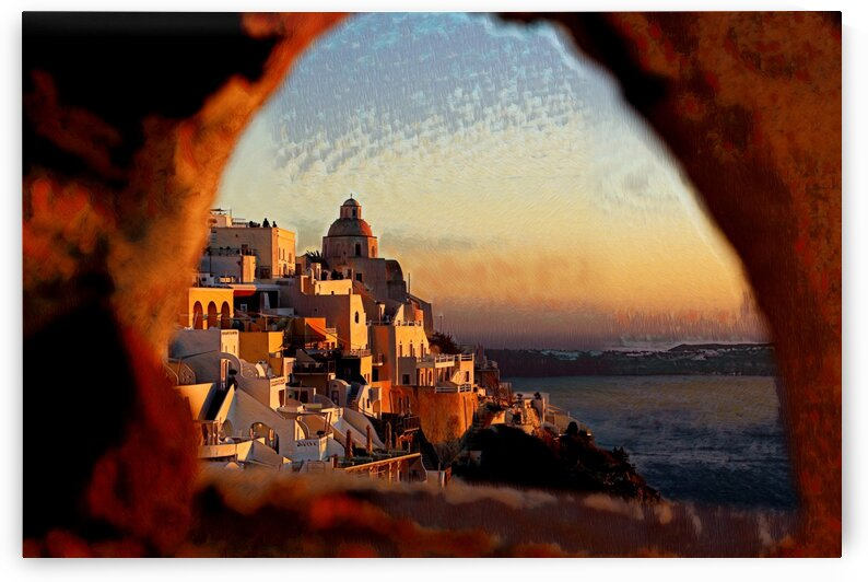 ARCH VIEW - Abstract - Santorini Greece by Robert David Concienne