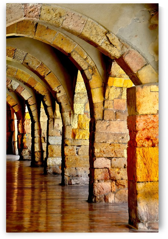 Arches and Columns ... Tarragona  Spain by Fred J Bivetto
