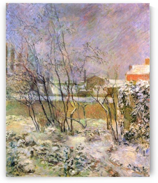 Snow in Rue Carcel by Gauguin by Gauguin