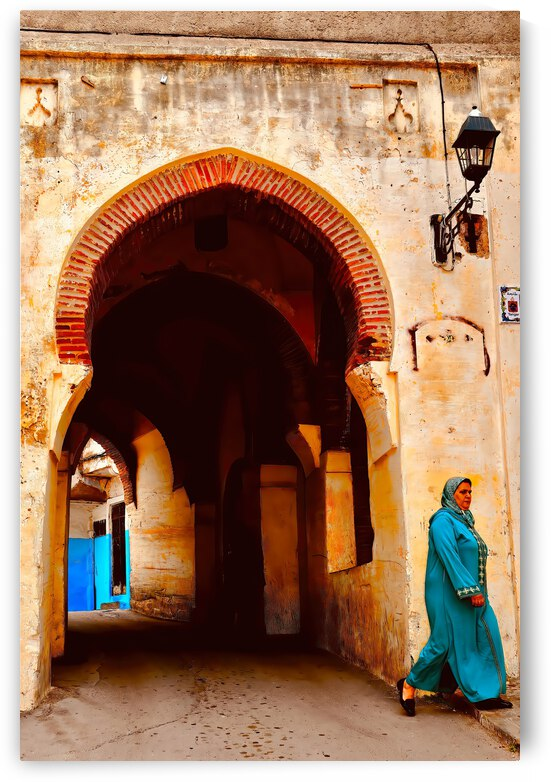 Passageway ... Tangier  Morocco by Fred J Bivetto