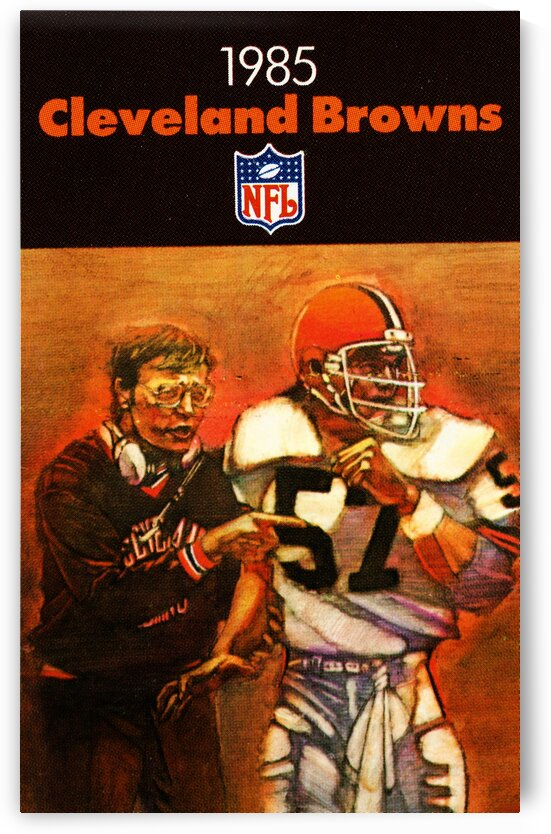 1985 Cleveland Browns Football Poster by Row One Brand