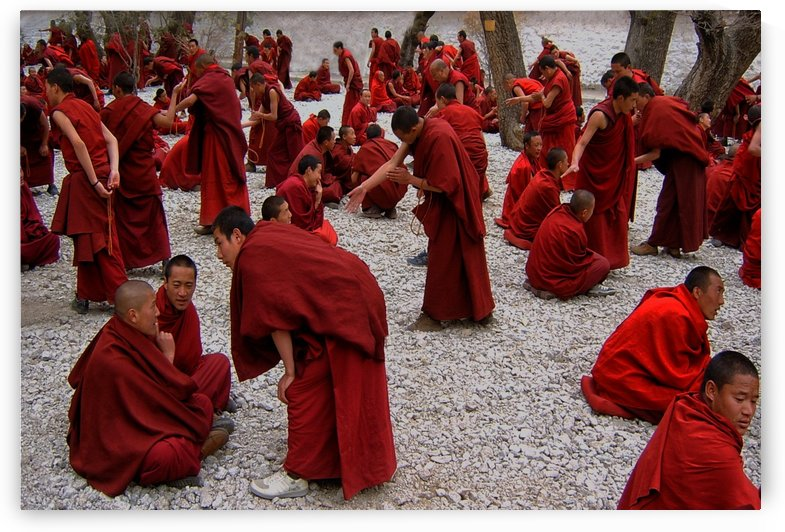 Monks debating by 1x