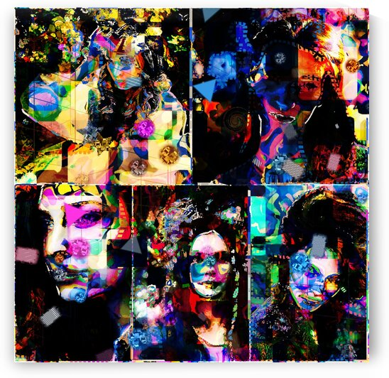 Poplife collage  by Jean-Francois Dupuis