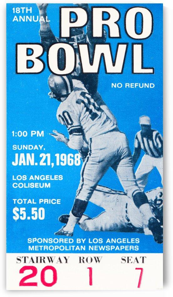 1968 Pro Bowl Football Ticket Stub Print by Row One Brand
