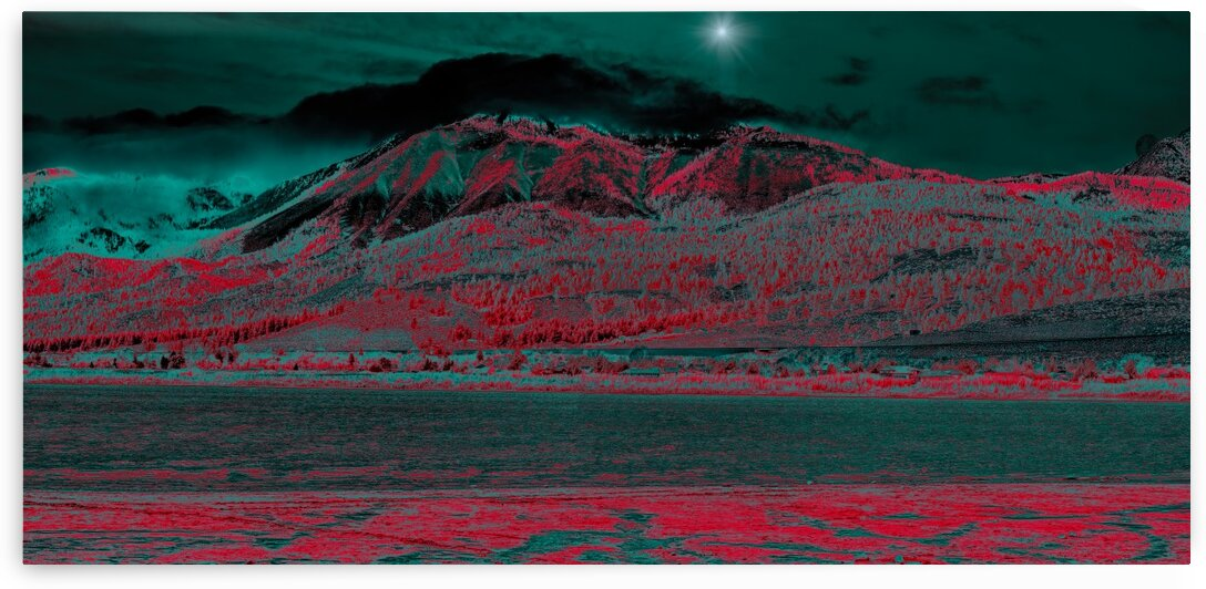 Slide Washoe and a Little Moon Pano in Abstract by Nicholas