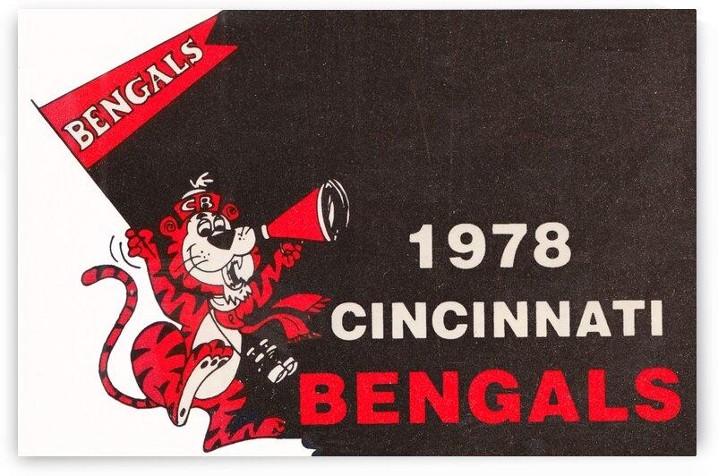 1978 Cincinnati Bengals Poster   by Row One Brand