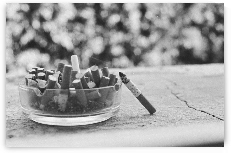Smoking break by Ran Bracha