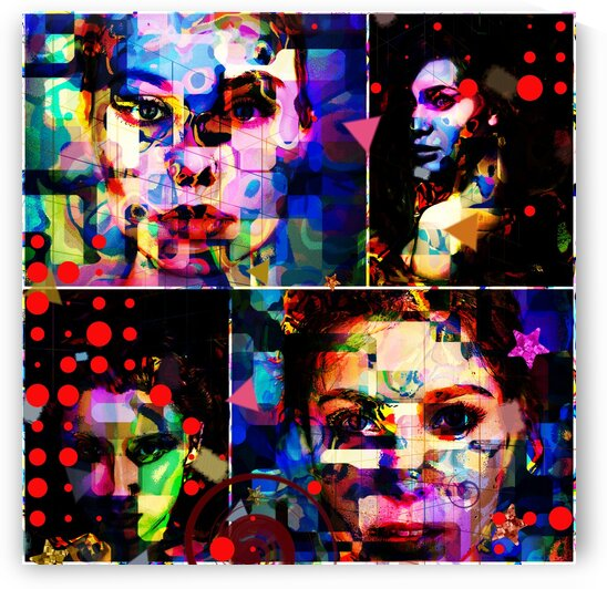 Poplife collage 2 by Jean-Francois Dupuis