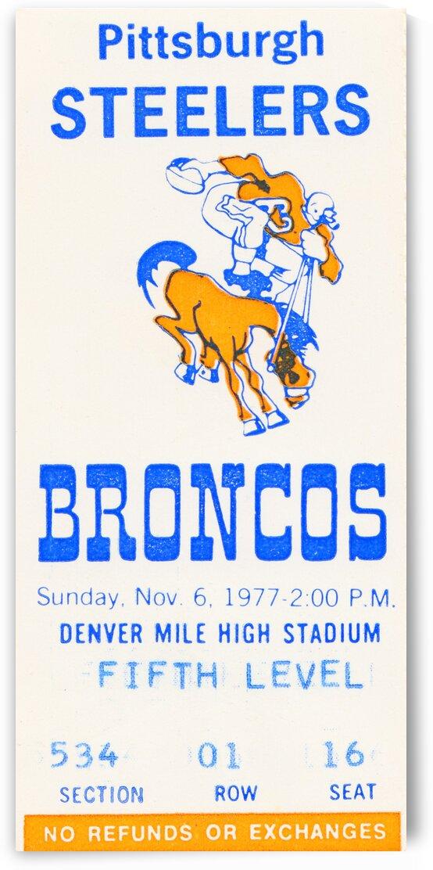 1977 Denver Broncos vs. Pittsburgh by Row One Brand