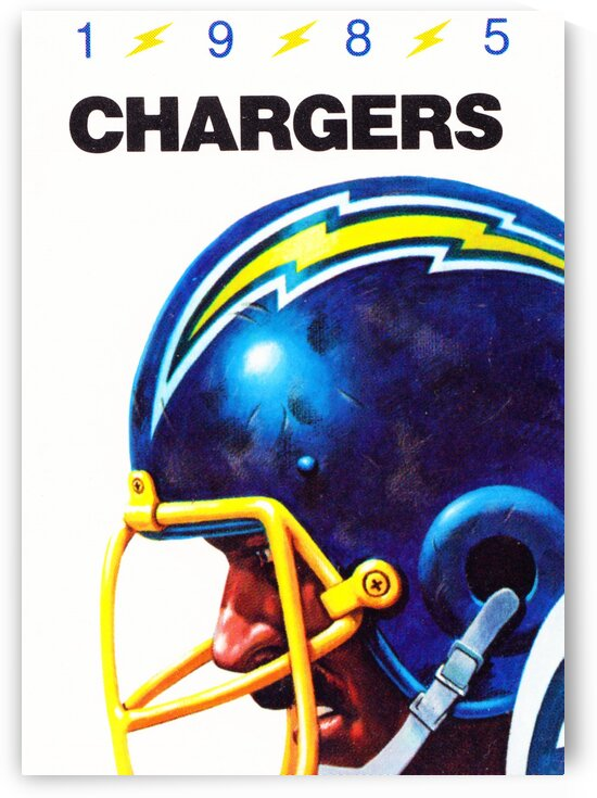 1985 San Diego Chargers Football Poster by Row One Brand