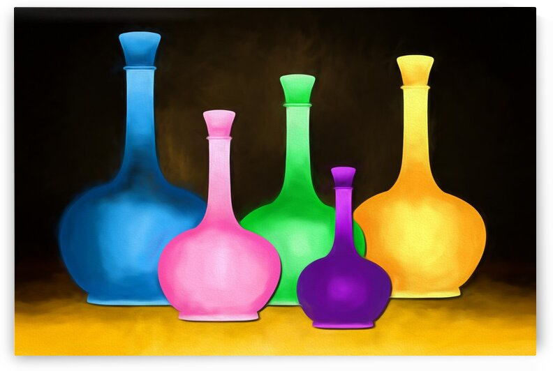 Colorful Bottles by Edgar Serrano