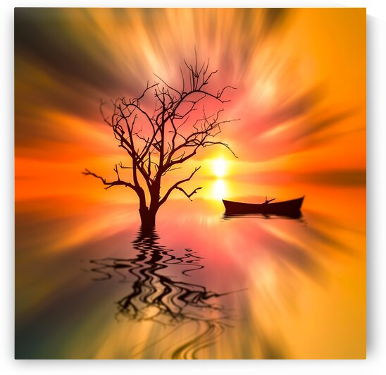 Orange dawn. by Ievgeniia Bidiuk