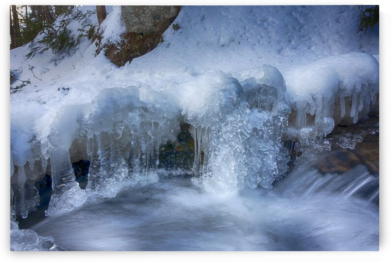 River in winter by Jacques Frenette