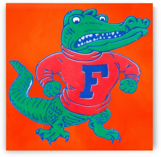 Retro Florida Gator Art by Row One Brand