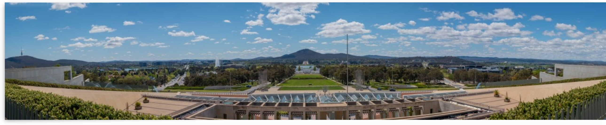 Canberra City Panorama from Parliament House roof by Grant Cookson