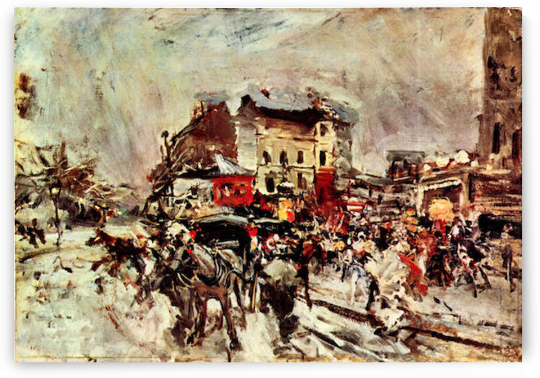 Outcome of a masked ball in Montmartre by Giovanni Boldini by Giovanni Boldini
