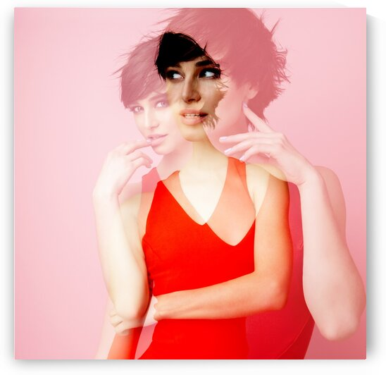 Double exposure. Fashion VIII by Aquamarine