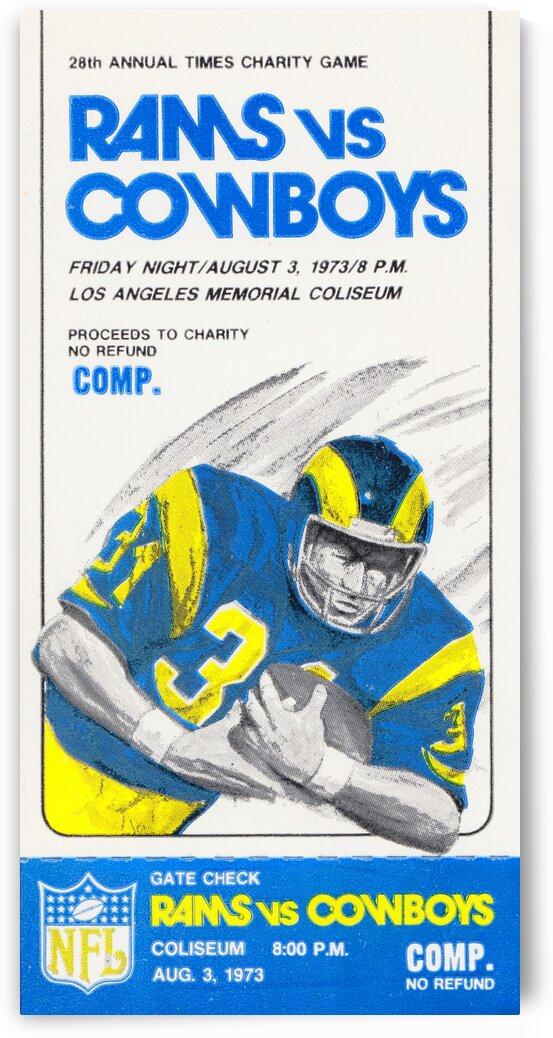 1973 LA Rams vs. Dallas Cowboys Ticket Art by Row One Brand