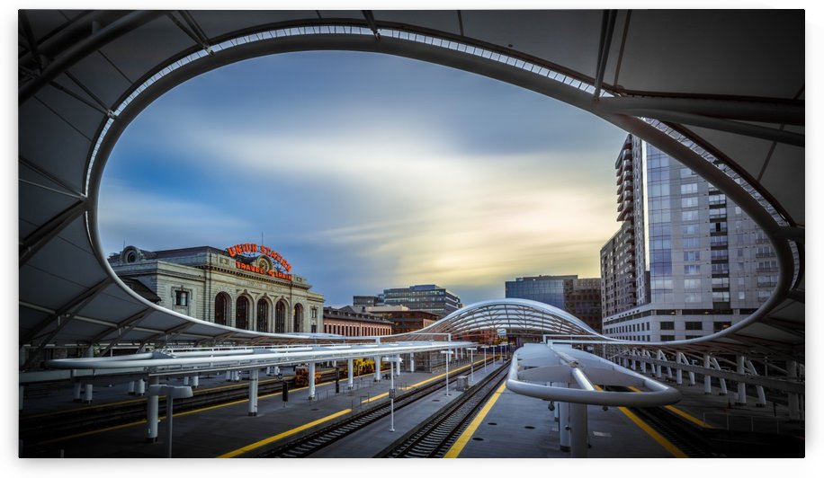 Union Station Denver - Slow Sunset by Jan Abadschieff  by 1x