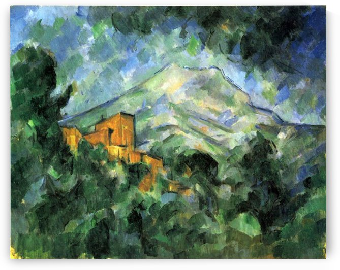 St. Victoire and Chateau Noir by Cezanne by Cezanne