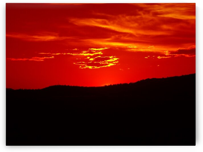 Scarlet Sunset Over Malin 1  by Sherrie Larch
