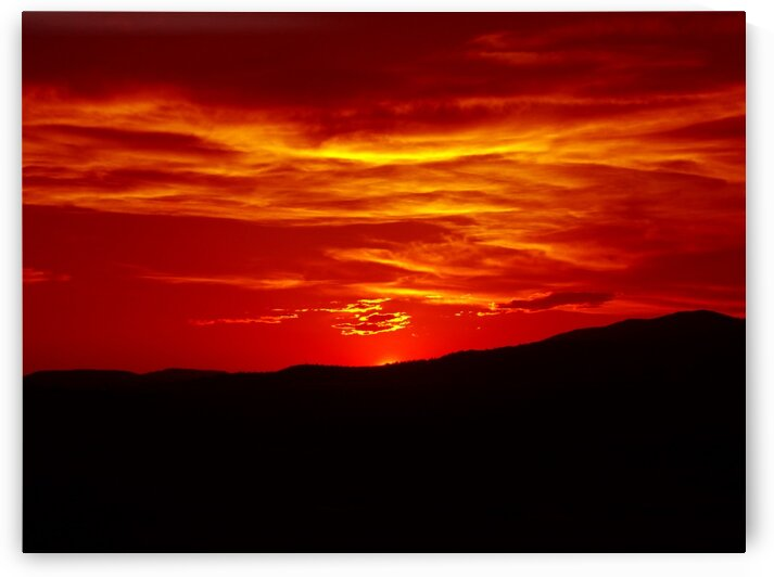 Scarlet Sunset Over Malin 2  by Sherrie Larch