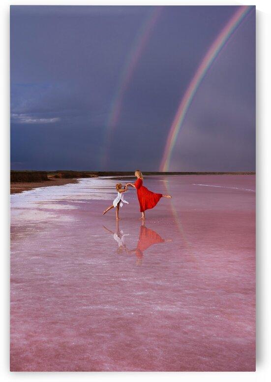 pink lake of hope by Olena Domanytska