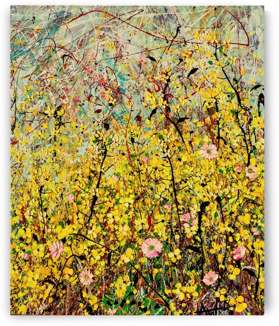 Symphony in Yellow Panel 2 by Angie Wright Art