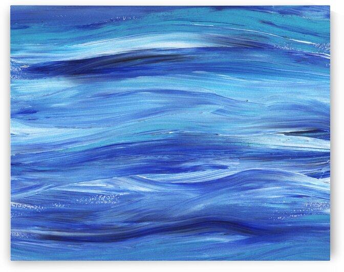 Sea Ocean Waves Coastal Beach House Nautical Decor III by Irina Sztukowski