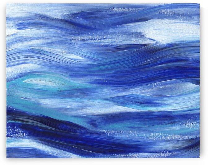 Sea Ocean Waves Coastal Beach House Nautical Decor IV by Irina Sztukowski