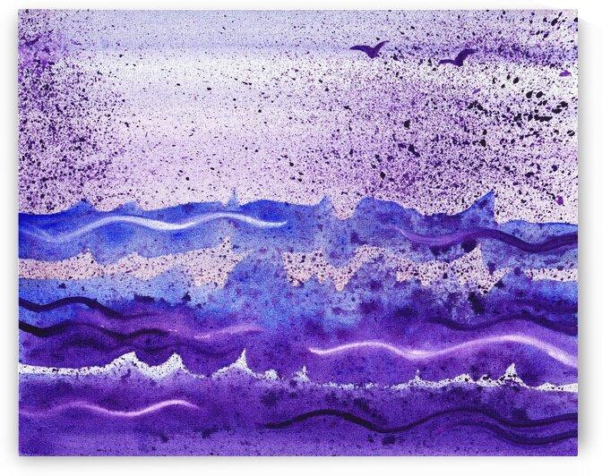 Sea Ocean Waves Coastal Beach House Nautical Decor XI by Irina Sztukowski